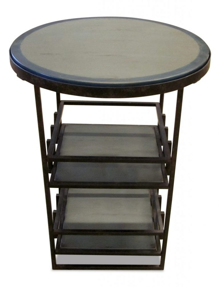 Hi Rez Image : Iron lattice Side Table